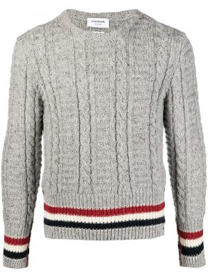 Thom Browne cable-knit jumper