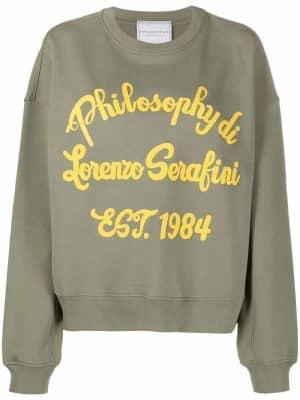 Philosophy logo print sweatshirt