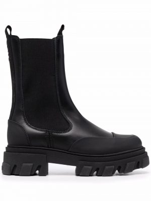 GANNI ridged-sole boots