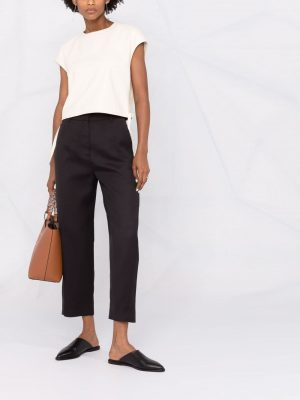 Toteme cropped straight-leg trousers
