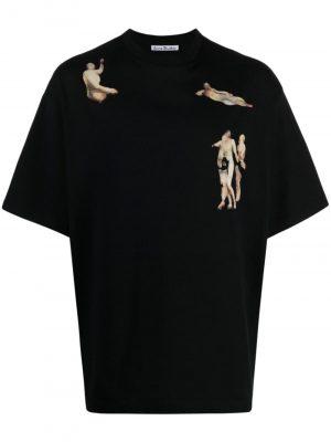 Acne Studios graphic-print cotton T-shirt