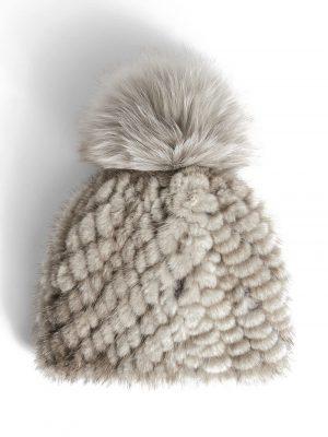 Maxmara 21PF 45760113 001 DELIA mink fur Hat Sand