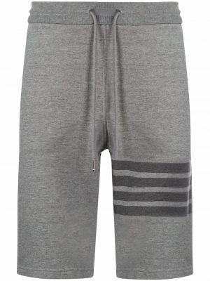 Thom Browne tonal 4-Bar loopback track shorts