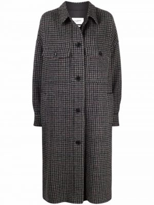 Isabel Marant Etoile check button-down coat