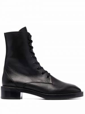 Stuart Weitzman low heel combat boots