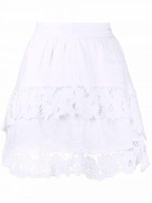 Isabel Marant Etoile shirred paisley-print skirt