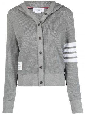 Thom Browne knitted hoodie cardigan