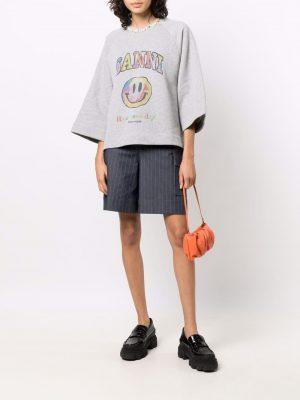 GANNI Smiley CottonT-shirt