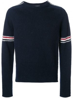 Thom Browne jersey pullover with stripe