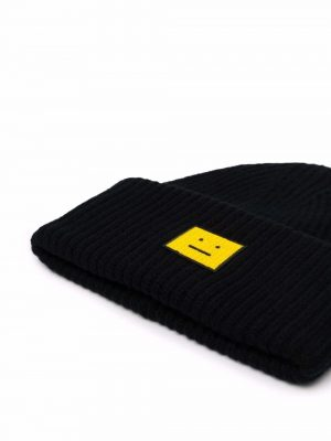 Acne Studios face patch wool beaniehat