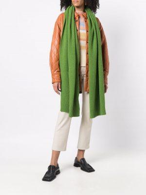 GANNI fine-knit scarf