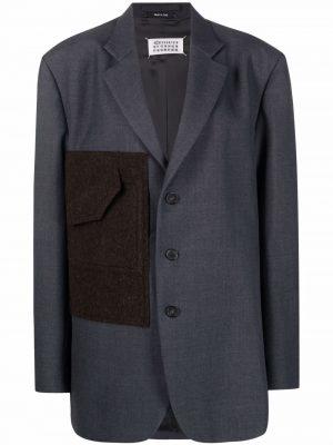 Maison Margiela contrasting panel single-breasted blazer