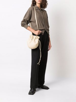 Lemaire leather drawstring crossbody bag