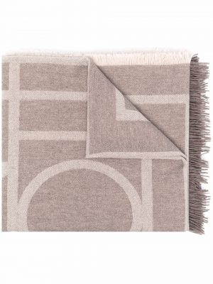 Toteme two-tone fringed woolscarf