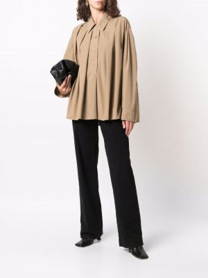 Lemaire pleated long-sleeve shirt