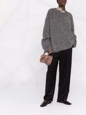 Toteme 21FW 214 574 757 359 Boxy alpaca knit dark grey