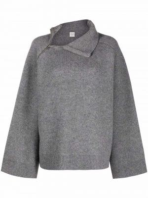 Toteme zip-neck knit jumper