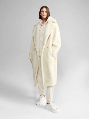 MaxMara TEDGIRL Teddy Bear Iconcoat White