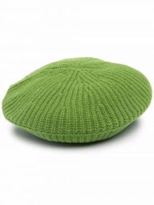 GANNI 21FW A3625 Wool Beret Flash Green