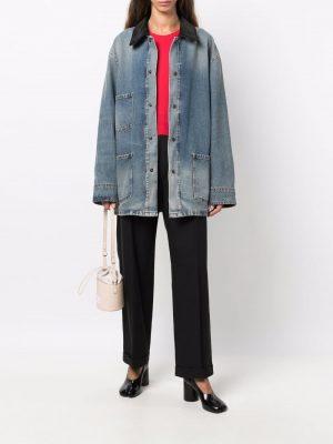 Maison Margiela denim contrast-collar sports jacket