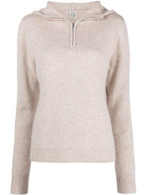 Toteme half-zip cashmere sweater