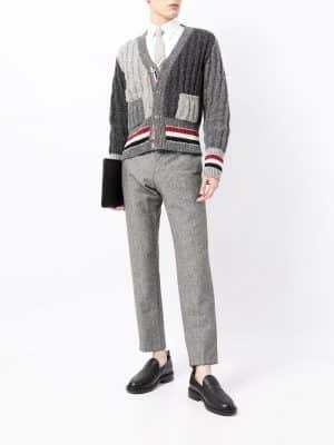 Thom Browne tweed grey cardigan