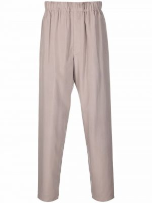 Lemaire elasticated-waist silk trousers