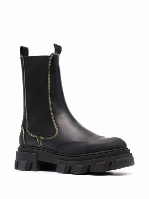 GANNI leather Chelsea boots