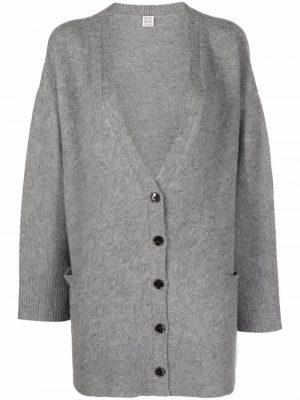 Toteme V-neck cardigan Light Grey Melange