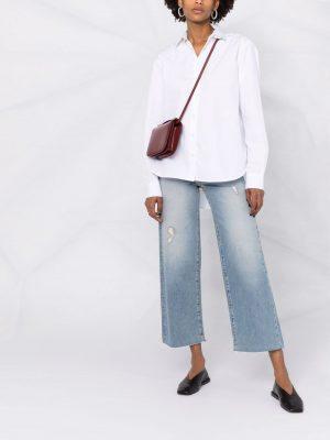 Toteme low-back cotton shirt