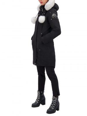 Moose Knuckles Stirlingparka Black Fur Natural