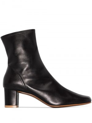 By Far Sofia Leather Ankle boots Black