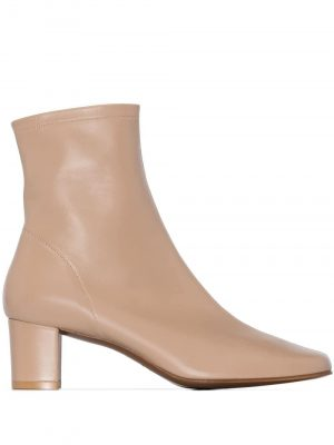 By Far Sofia Leather Ankle boots Nude