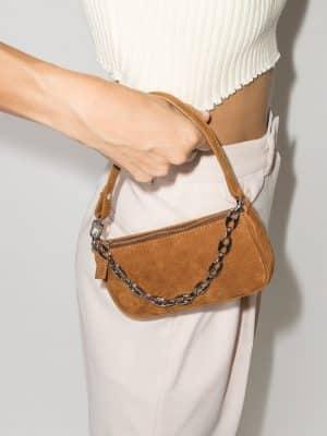 By Far Mini Rachel shoulder bag Brandy