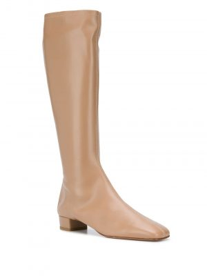 By Far 21FW 19FWEDIDNUL Edie Knee High Leather Boots Nude